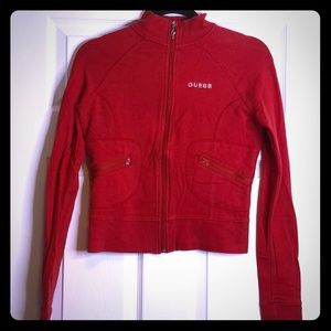 Guess zip up short jacket size Med